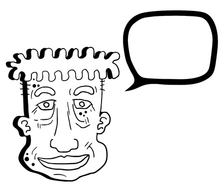 talkative: Comic face draw