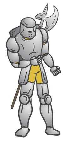 halberd: Medieval warrior