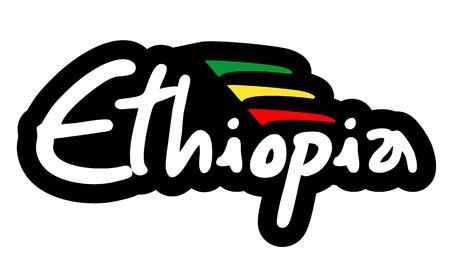 Ethiopia sticker Stock Vector - 21148696