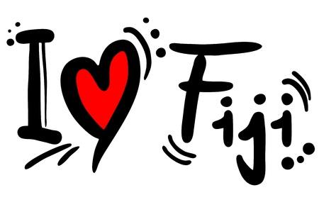predilection: I love Fiji Illustration