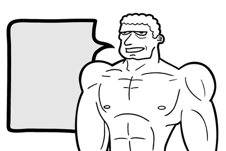 talkative: Muscle man