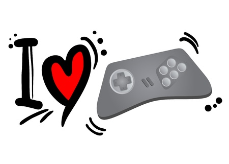 I love video games Stock Vector - 21148775