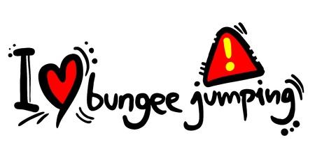 bungee jumping: Me encanta el puenting