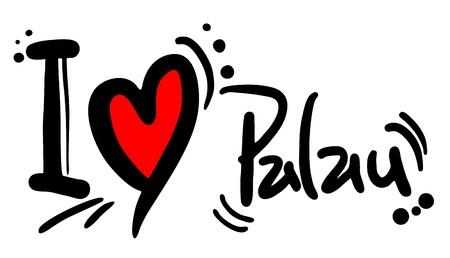 I love Palau Illustration