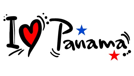 I love Panama Stock Vector - 21148822
