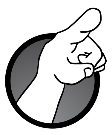 Point hand icon Stock Vector - 21311205