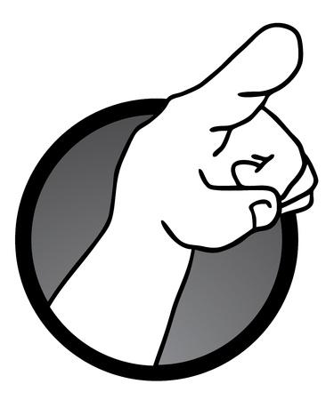 clarify: Point hand icon
