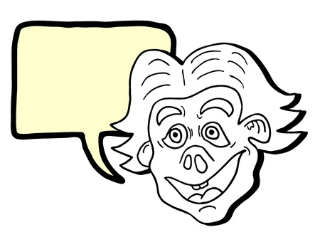 Crazy comic face Vektoros illusztráció