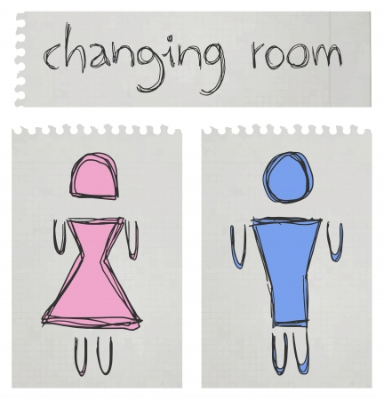 Changing room Stock Vector - 21311289