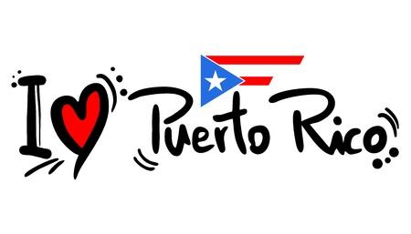 bandera de puerto rico: Puerto Rico amor Vectores