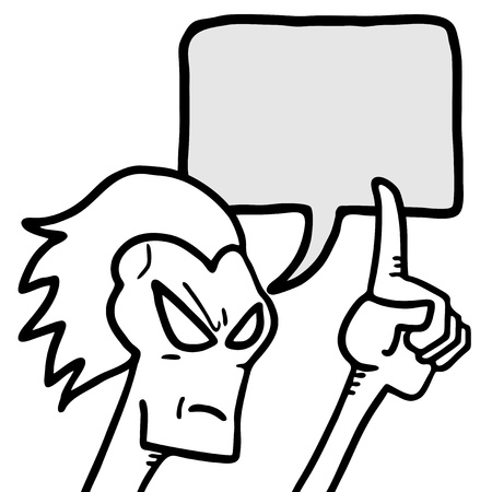 Comic advise Illustration