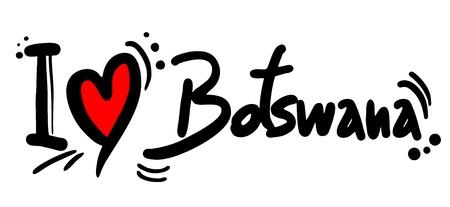 botswana: I love Botswana