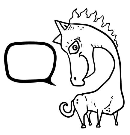 Lustiges Pferd Standard-Bild - 21738375