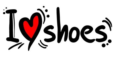 靴が大好き  イラスト・ベクター素材
