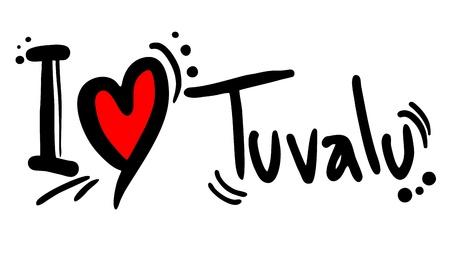 tuvalu: I love Tuvalu Illustration