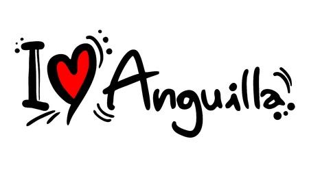 anguilla: I love Anguilla Illustration