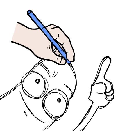 montrer du doigt: Dessinez pointer du doigt
