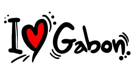 gabon: I love Gabon Illustration