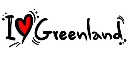 I love Greenland Illustration