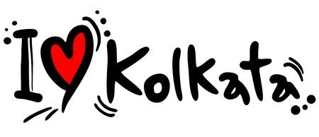 I love Kolkata Stock Vector - 21983845