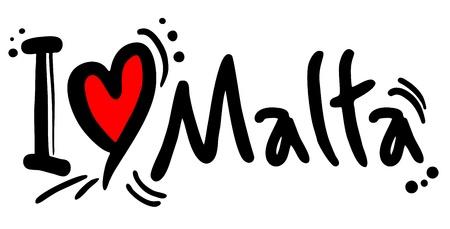 malta cities: I love Malta
