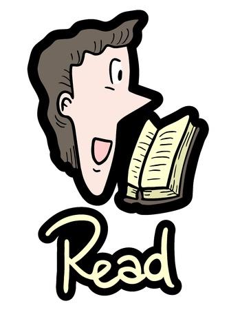 humanism: Read book Illustration