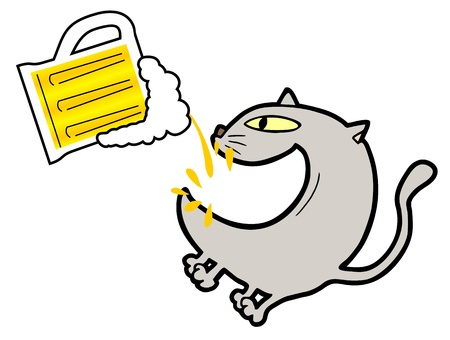 Cat beer Vector