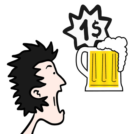 Amazing price beer Vector