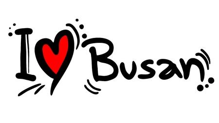 Love Busan Stock Vector - 22394083