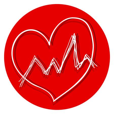 oscilloscope: Medial heart symbol