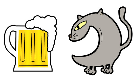 Cat beer Stock Vector - 22394125