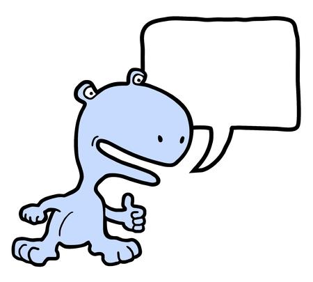 sociable: Funny animal Illustration