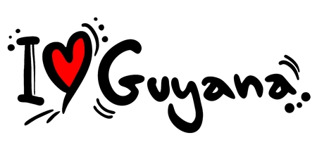 guyana: Love Guyana Illustration