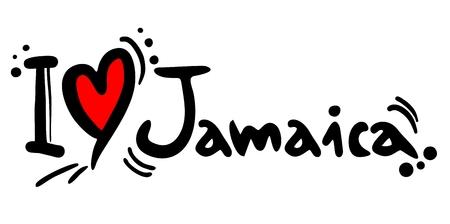 Ik hou van Jamaica Stock Illustratie