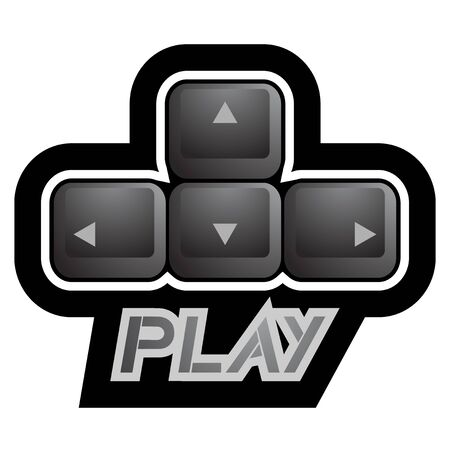 Play key symbol Stock Vector - 22394157