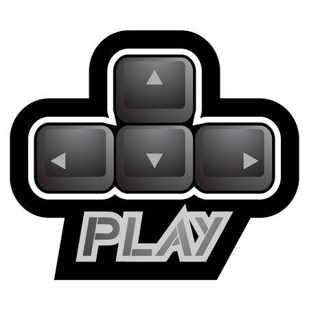 directives: Play key symbol Illustration