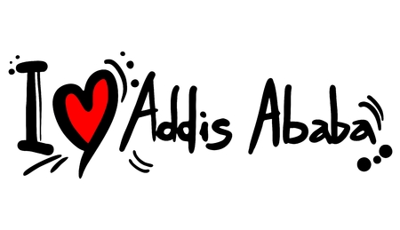 Addis Ababa love Vector