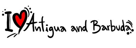 antigua and barbuda: Antigua and Barbuda love Illustration