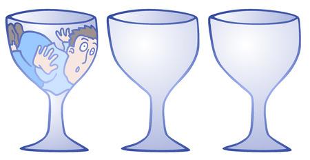 claustrophobia: Imaginative draw design Illustration
