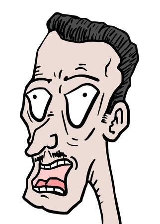 disturbed: Man face draw