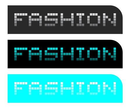 original single: Fashion web buttons Illustration