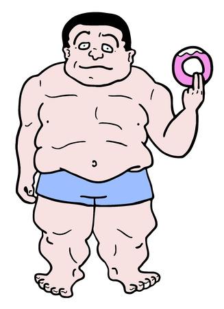 Fat man draw Illustration