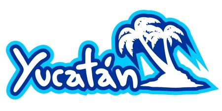 yucatan: Yucatan palm Illustration