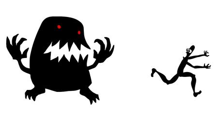 restlessness: Monster scape Illustration