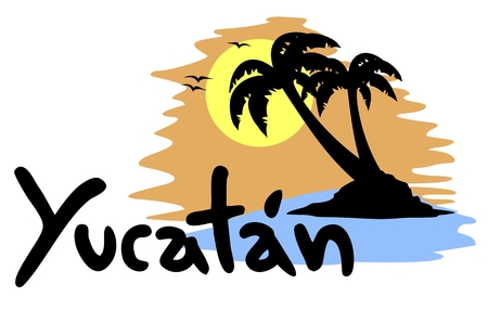 yucatan: Yucatan beach Illustration