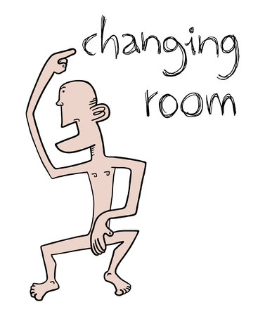 Changing room advise Stock Vector - 22593971