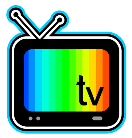 Color television screen Vector