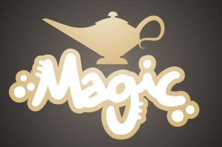 three wishes: Magic lamp Illustration