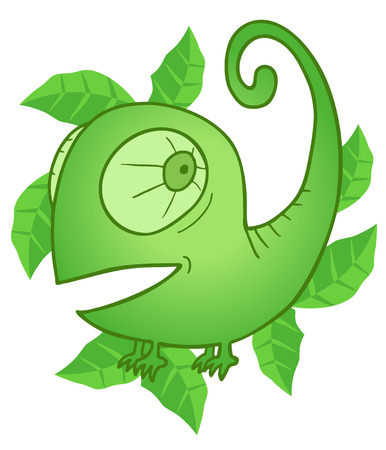 spearmint: Mint chameleon Illustration