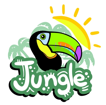 Jungle illustration Vector